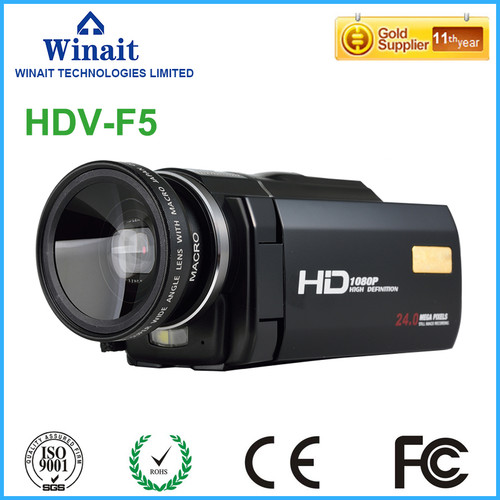 "High Quality Digital Video Recorder DV HDV-F5 24MP 16x Digital Zoom Photo Camera 3.0"" 1080P DVR Camcorder With Remote Control"