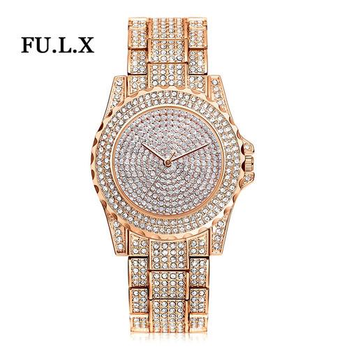 2017 New Arrival Luxury Women Watches Rhinestone Crystal Wristwatch Lady Dress Watch Men's Luxury Analog Quartz Watches Relogio