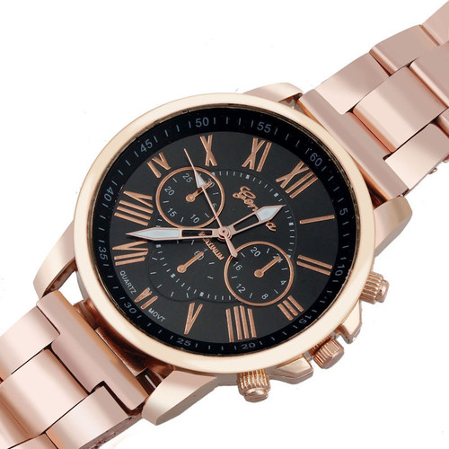Relogio Feminino Roman Number Stainless Steel Analog Quartz Watch Relojes Mujer 2017 High Quality Sports Watches Wrist Watch