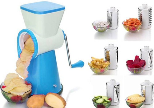 6 in 1 Vegetable Fruit Cutter Slicer, Multi Grater Slicer , with interchangeable blades