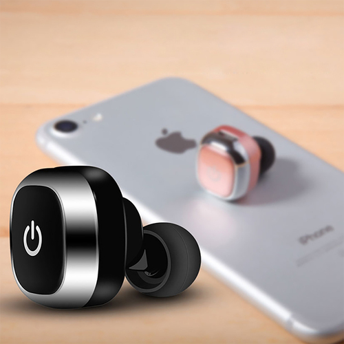 Mini Wireless Bluetooth Earphones Handsfree Portable Driving Earbuds Headphones with Built in Mic for iPhone Samsung Smartphones