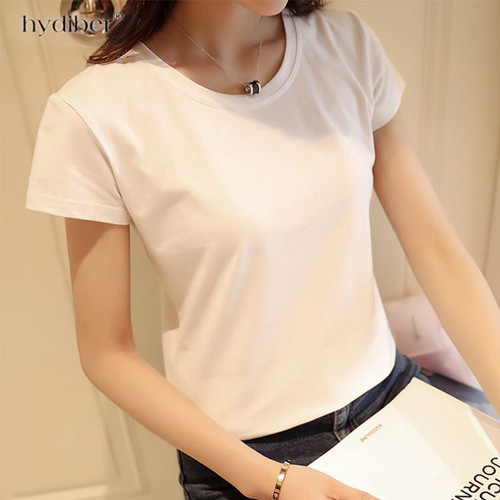 summer T Shirt Women Cotton Elastic Basic T shirts femme Casual tshirt ladies Short Sleeve Top tee T-shirt Women plus size 2018