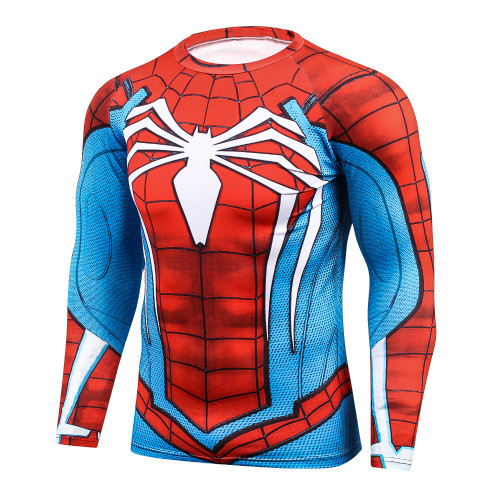 SpiderMan 3D Printed Tshirts Compression Tights T-shirts Novelty Fitness Camiseta Crossfit Tees Long Sleeve Bodybuilding T shirt