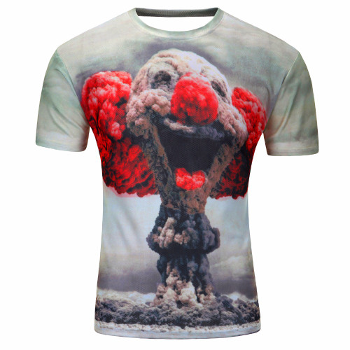 Fashion 2018 New Cool T-shirt Men/Women 3d Tshirt Print Suicide clown Short Sleeve Summer Tops Tees T shirt Male M-4XL