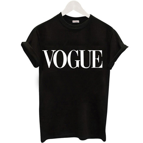 Plus Size S-XL Harajuku Summer T Shirt Women New Arrivals Fashion VOGUE Printed T-shirt Woman Tee Tops Casual Female T-shirts
