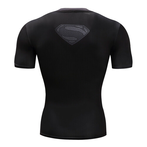 Superman Tshirts Men Compression Shirts Batman Tops The Flash T-shirts Fitness Crossfit Tees Bodybuilding camiseta rashguard