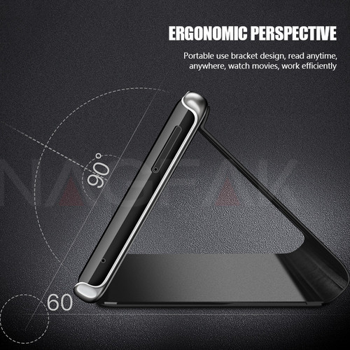 NAGFAK Flip View Mirror Phone Case For Samsung Galaxy S9 Plus S8 Plus Luxury Smart Flip Cover For Samsung Note 8 S7 S6 Edge Case
