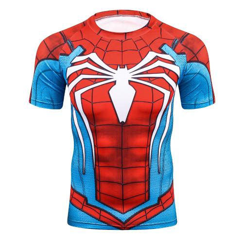Batman Spiderman Venom Ironman Superman Captain America X-man Punisher Marvel Compression T shirt Avengers Superhero mens