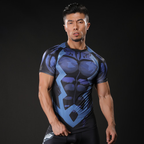 2017 Brand Men Marvel Punisher T Shirt Superhero Short Sleeve T Shirts Fitness Superman 3D Shirts Compression Shirt Tights Male