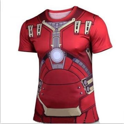 2016 new Fashion Marvel Armor Iron Man 3 MK42 Superhero t shirt men costume jersey 3d tshirt camisetas masculinas
