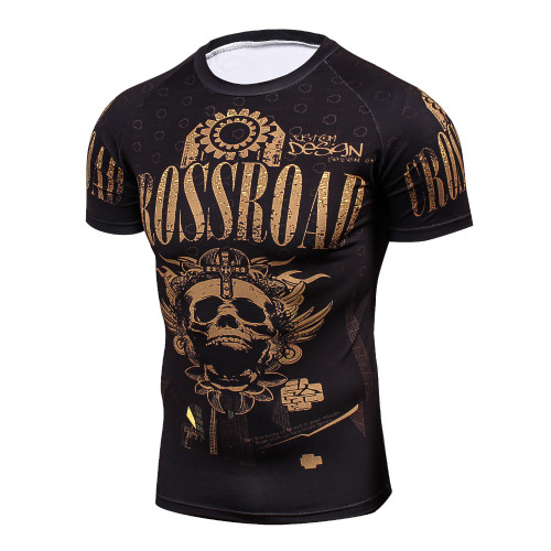marvel punisher skulls 3D compression shirt fitness tights T-shirt crossfit quick dry t shirt Men Summer Cool Tees Tops