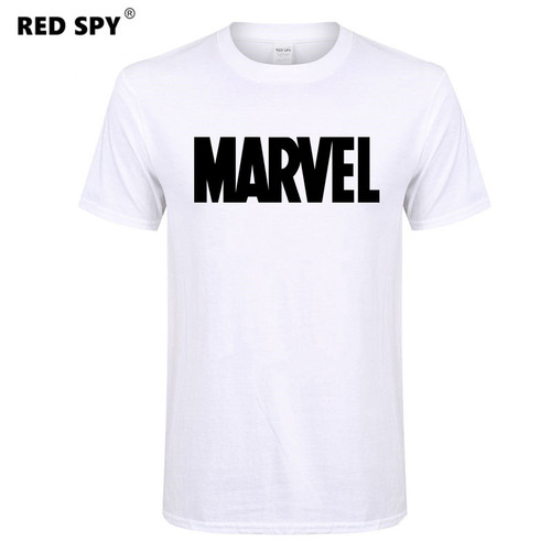 Marvel cotton t-shirt men N 2018 summer top tees Short sleeve t shirt men Casual tshirt men red shirt