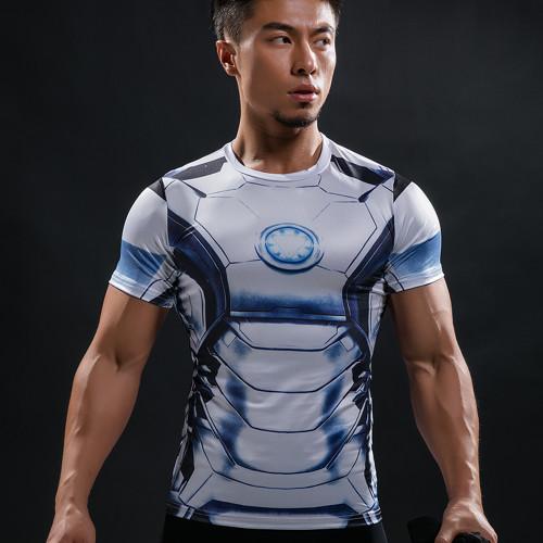 Captain America T Shirt 3D Printed T-shirts Men Marvel Avengers 3 iron man Civil War Tee Fitness Clothing Male Crossfit Tops