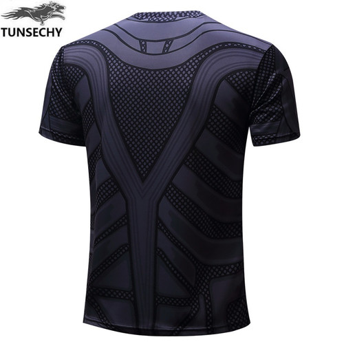 TUNSECHY NEW 2017 Marvel Captain America 1 Super Hero lycra compression tights T shirt Men fitness clothing short sleeves XS-4XL