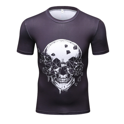 2017 Men Marvel Punisher T Shirt Superhero Short Sleeve T Shirts Fitness Superman 3D Shirts Compression Tight Shirt Male