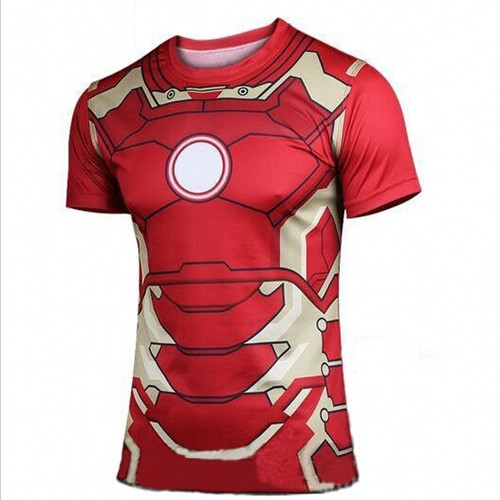 New Fashion Marvel Armor Iron Man 3 MK42 Superhero t shirt men costume jersey 3d tshirt camisetas masculinas