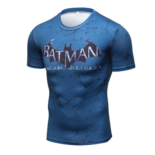 2017 marvel batman compression shirt fitness tights crossfit quick dry short sleeve t shirt Summer Men tee tops clothing