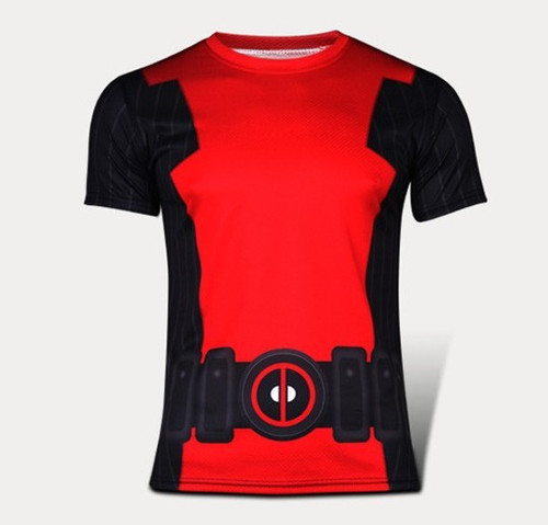 2016 Marvel Super Heroes Avengers Age of Ultron Captain America Tights T shirt Men fitness clothing short sleeves