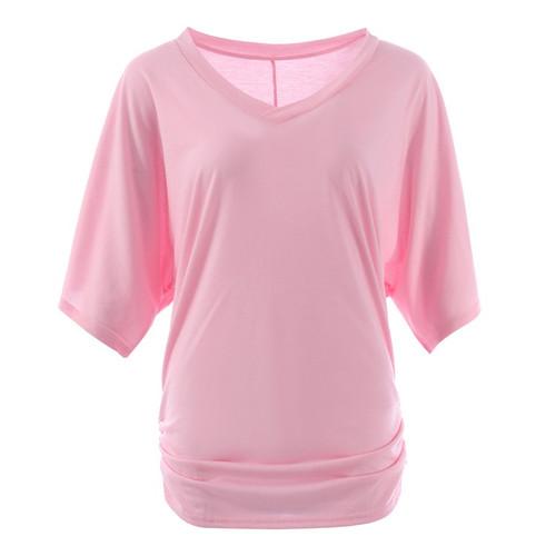 NIBESSER 3XL 5XL T-shirt Women Loose Bat Short Sleeve Tops Tees Casual Female Slim Tshirt 2018 Summer O-Neck T shirts Plus Size