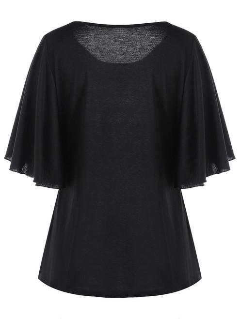 CharMma 2017 New Autumn Short Sleeve T-shirt Women Fashion Plus Size Tiny Floral Round Collar Tee Casual Women Long Shirt