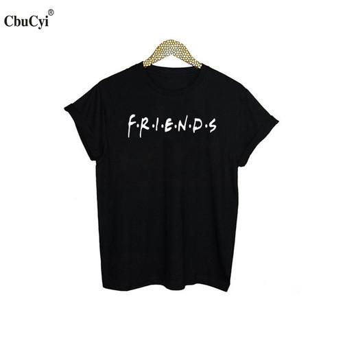 Best Friends T-shirt Women's Summer Fashion Bff Tshirt Black White Cotton Tops Tee 2017 Tumblr Hipster Tv Show tshirt