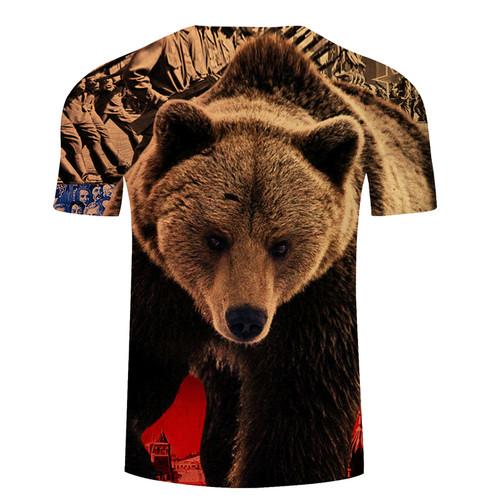 JTCOJX Brand Russia T-shirt Bear T Shirt Russian Flag Tshirt Men 3d Anime Tshirts Male Shirts 3D leisure Clothing