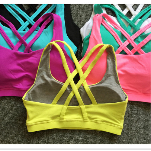 Mermaid Curve Sexy Back Cross Shockproof  Sports Bras Women Gym Fitness Seamless Yoga Bra Crop Top Push Up Bra