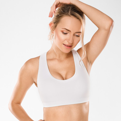 CRZ YOGA Women's Active X-Back Soft Yoga Bra Sports Bra With Removable Cups
