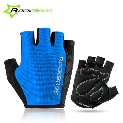 ROCKBROS Half Finger Bicycle Glove Outdoor Cycling Sports Breathable Gloves Bike Sponge Pad Professional Gloves Unisex RK0038
