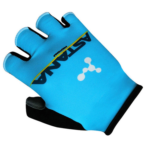 NEW 2018 Team ASTANA Cycling Gloves Ropa Ciclismo Breathable Gel pad palm half finger bike gloves