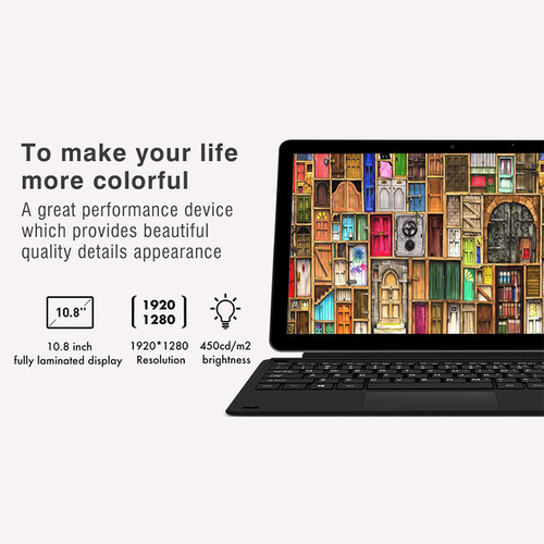 "CHUWI Surbook Mini Tablet PC Windows 10 Intel Apollo Lake N3450 Quad Core 10.8"" 1920x1280 IPS Screen 4GB 64GB Type-C USB3.0"