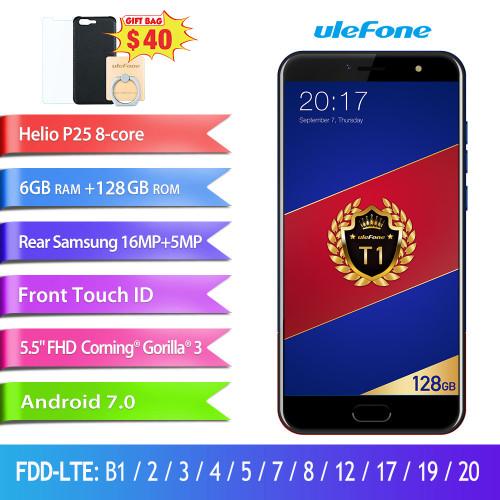 "Ulefone T1 Premium Edition 6GB+128GB 5.5"" FHD Helio P25 Octa Core Mobile Phone Android 7.0 Fingerprint 4G Global version"