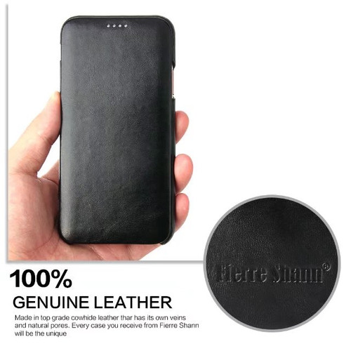 For iPhone 8 plus flip case Business Genuine cowhide Leather cover for Apple iPhone 7 plus / 6 6splus /10 X Magnetic closure