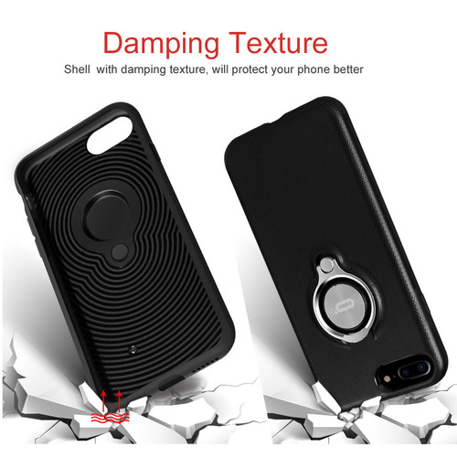 For iPhone 7 Case Luxury Cases for iPhone 7 7 Plus Coque Cover For iPhone 7 Magnetic Ring Phone Cover Fulll Protective Shell