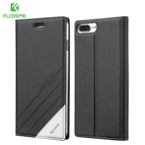 FLOVEME Luxury For iPhone 7 Case 5 6 6S Plus Flip Leather Phone Cases For Apple iPhone 5 5S SE 6 6S iPhone 7 Wallet Holster Case