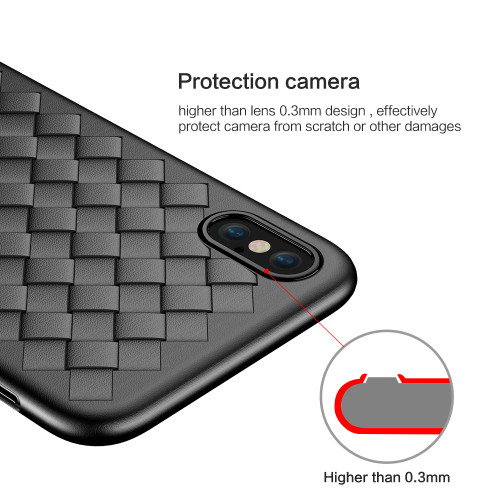 FLOVEME Soft Case For iPhone 6 6S 7 Luxury Business Smooth Woven Silicone Cover For iPhone X 8 7 Plus Case Funda Coque Phone Bag