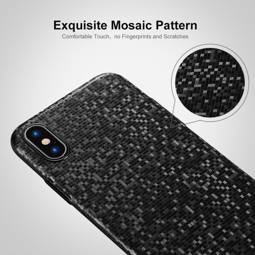 FLOVEME Ultra Thin Mosaic Case For iPhone X 10 Luxury Phone Bag Cases For iPhone 7 8 6 6s Plus Hard Cover Fitted Black Capinhas
