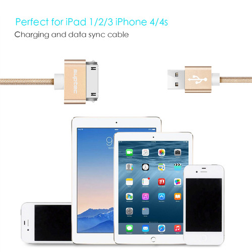 SUPTEC USB Cable for iPhone 4 s 4s 3GS iPad 2 3 iPod Nano touch Fast Charging 30 Pin Original Charge adapter Charger Data Cable