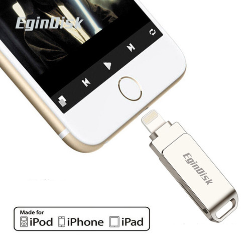 2020 New USB Flash Drive For iPhone / iPad Metal Pen Drive For iPhone 6 6Plus 6S 7 7Plus 7S 8 8Plus X Support iOS 8.0 Above