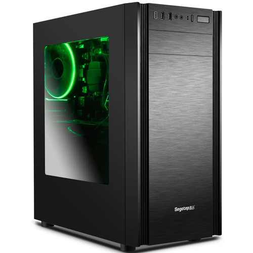 GETWORTH R33 Gaming PC I5 8500 Office Computer Cheap I5 Computer 128G SSD 8G RAM 230W Power B360M For LOL DIY Win10 Home PS