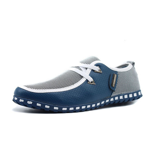 Men Casual Shoes Breathable Light Flats Shoes Leather Loafers Slip On Mens Flats Driving Shoes Plus size  FONIRRA 38-47 176