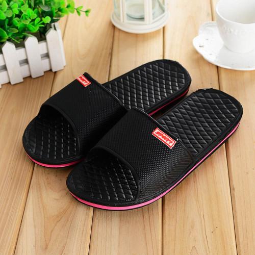 Men Shoes Solid Flat Bath Slippers Summer Sandals Indoor & Outdoor Slippers Casual Men Non-Slip Flip Flops Beach Shoes Size41-44