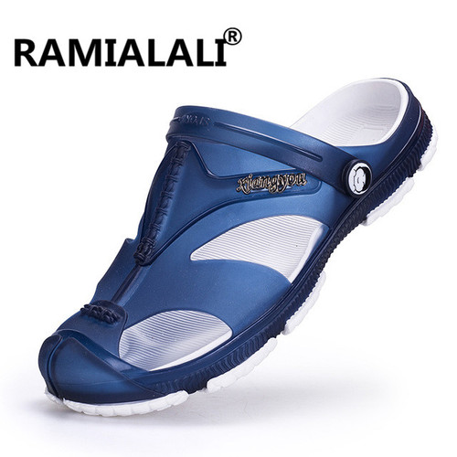 Ramialali Mens Flip Flops Sandals Casual Men Shoes Summer Fashion Beach Flip Flop Slippers Sapatos Hembre Sapatenis Masculino