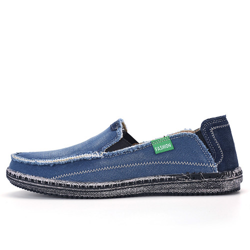 CcharmiX Brand New Mens Jeans Canvas Casual Shoes Males Breathable High Quality Fashion Shoes Men Fashion Flats Loafer Plus Size