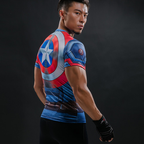 T Shirt Captain America Shield Civil War Tee 3D Printed T-shirts Men Marvel Avengers 3 iron man Fitness G ym Clothing