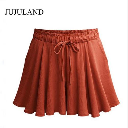 5XL Plus Size Shorts Women Loose Casual High Waist Shorts Cotton Wide Leg Black Shorts 2018 Short Feminino Skirt Shorts 4XL
