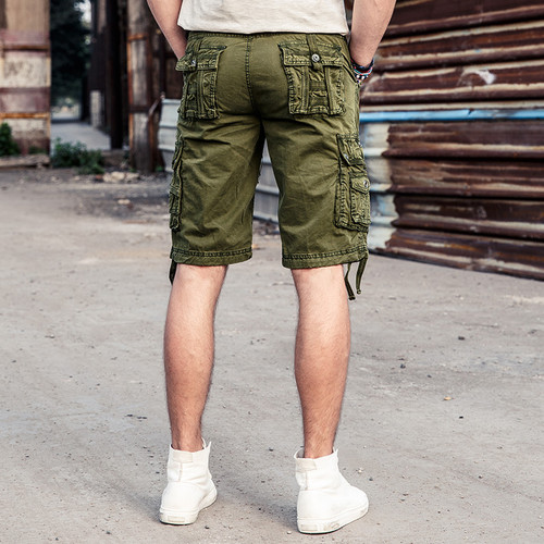 Cargo Shorts Mens 2017 New Summer Cotton Shorts Men Casual Knee Length Plus Size Comfortable Fashion Brand Short Masculina 146