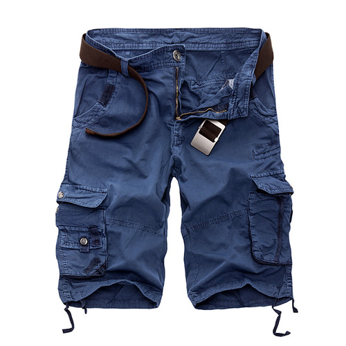 New 2020 Men Cargo Shorts Casual Loose Short Pants Camouflage Military Summer Style Knee Length Plus Size 10 Colors Shorts Men