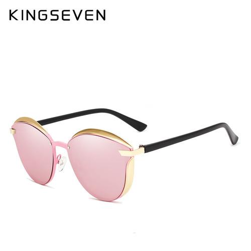KINGSEVEN Cat Eye Sunglasses Women Fashion Ladies Sun Glasses Female Vintage Shades Oculos de sol Feminino UV400
