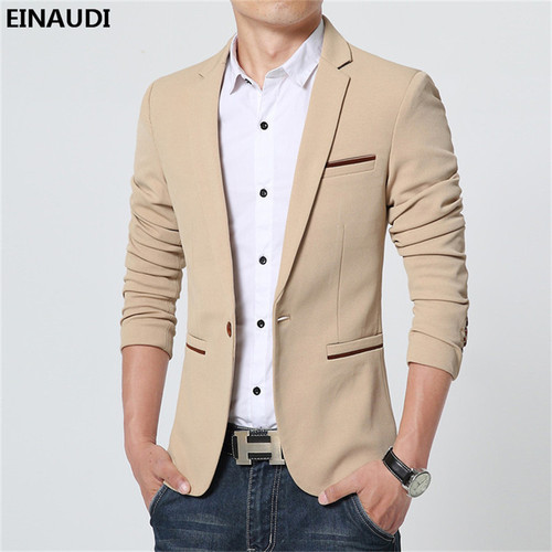 EINAUDI  2017 New Spring Autumn Men Thin Casual Blazer Cotton Slim England Suit Blaser Masculino Male Jacket Blazer For Men 1461